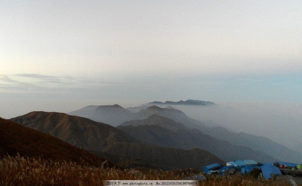 自然风景 云海 武功山 群山 沿途的风景 旅游摄影