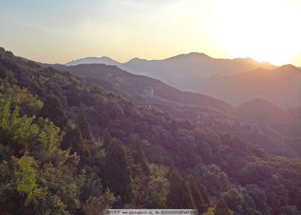 金色阳光 群山叠起 山峰 山脉 阳光普照 自然风景 自然景观 摄影 72