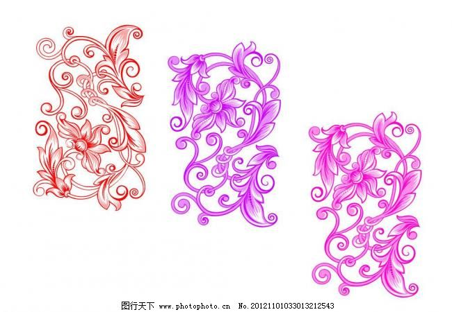 尊贵的花纹笔刷 花笔刷 角花 鲜花 角花笔刷 鲜花笔刷 印花笔刷