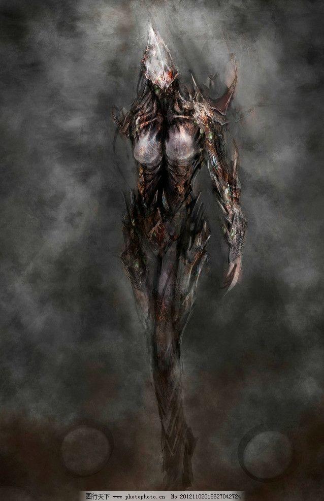 外星人 设计图片 科幻世界 绘画 魔幻 异形 异形生物 怪兽 外星生物