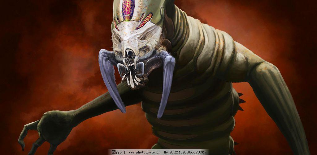 异形 设计图片 科幻世界 绘画 科幻 魔幻 异形生物 怪兽 变异 恐怖