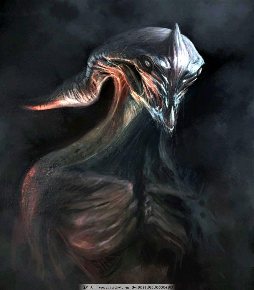 设计图片 科幻世界 绘画 科幻 魔幻 异形 异形生物 怪兽 外星生物