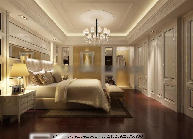 欧式卧室 窗帘 吊顶 家居 建筑园林 精品 室内 样板间 组合沙发