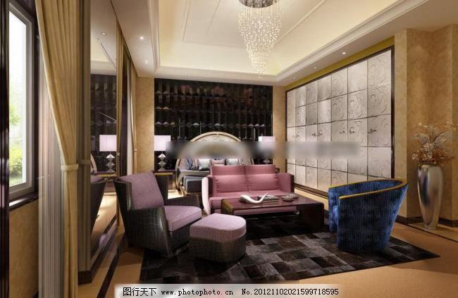 欧式客厅 窗帘 吊顶 家居 建筑园林 精品 室内 样板间 组合沙发