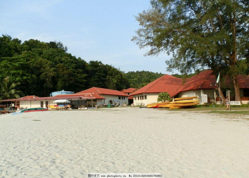 岛上民居 马来西亚 沙贝岛 海岛 沙滩 旅游风景 国内旅游 旅游摄影