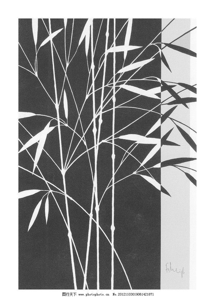 花瓶黑白图片手绘