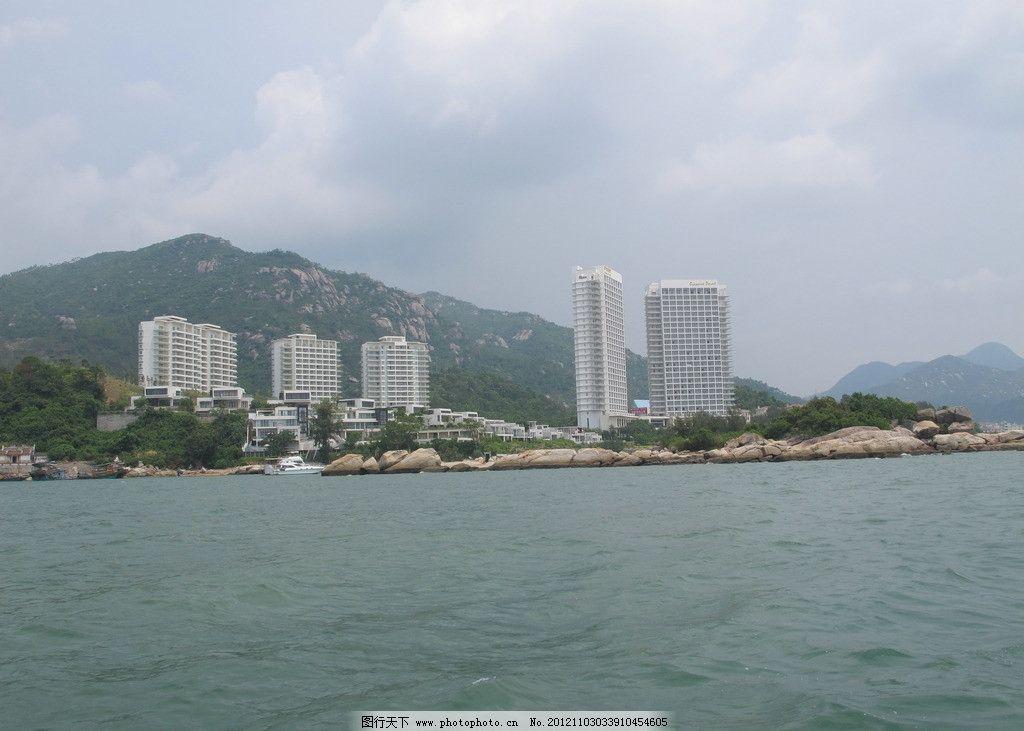 巽寮湾 惠州 惠东 凤池岛 沙滩 海边 海湾 小岛 蓝天 国内旅游 旅游