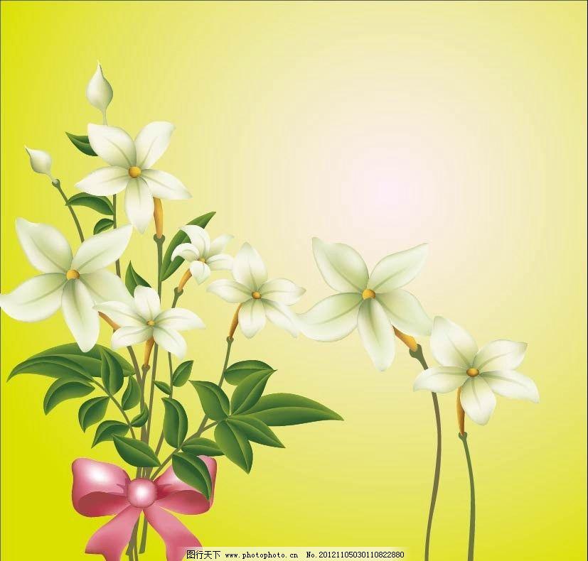 百合花移门 花卉 矢量花纹 矢量花纹边框 手绘花朵 手绘花卉 菊花