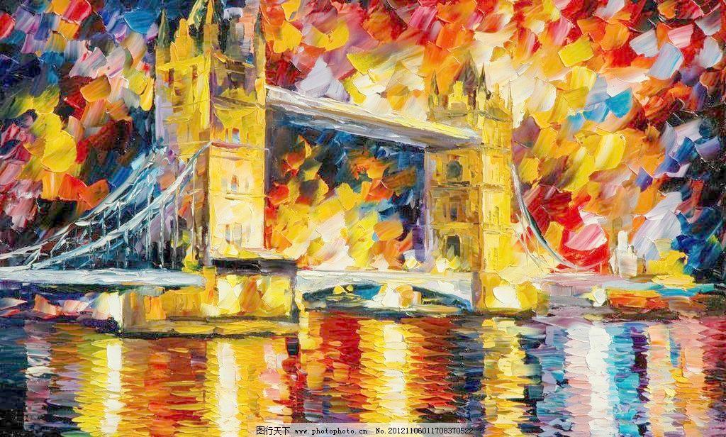 伦敦塔桥图片_山水风景画