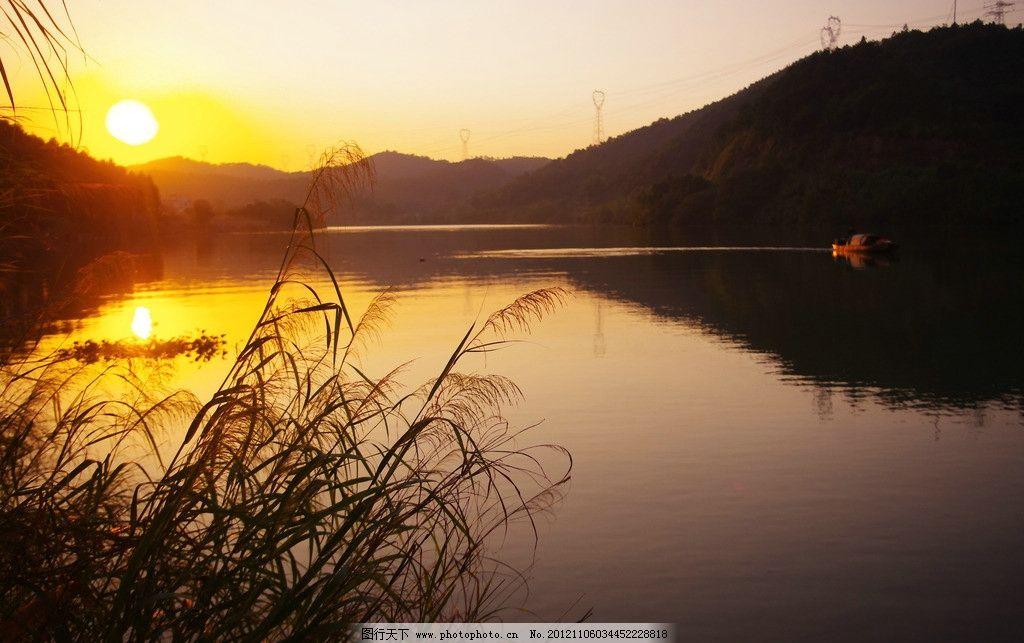 日落 夕阳 梅江