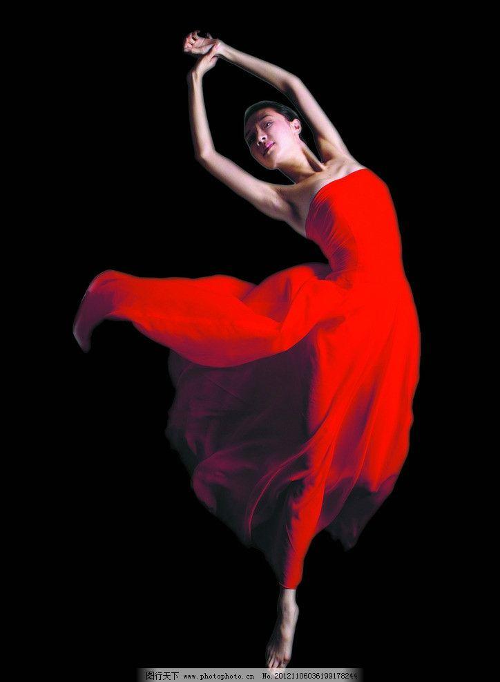 舞者 红色 舞蹈 跳舞 优美 职业人物 摄影