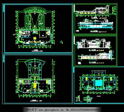 客运站设计 方案 客运整套设计 客运站施工图 客运站平面图 立面图
