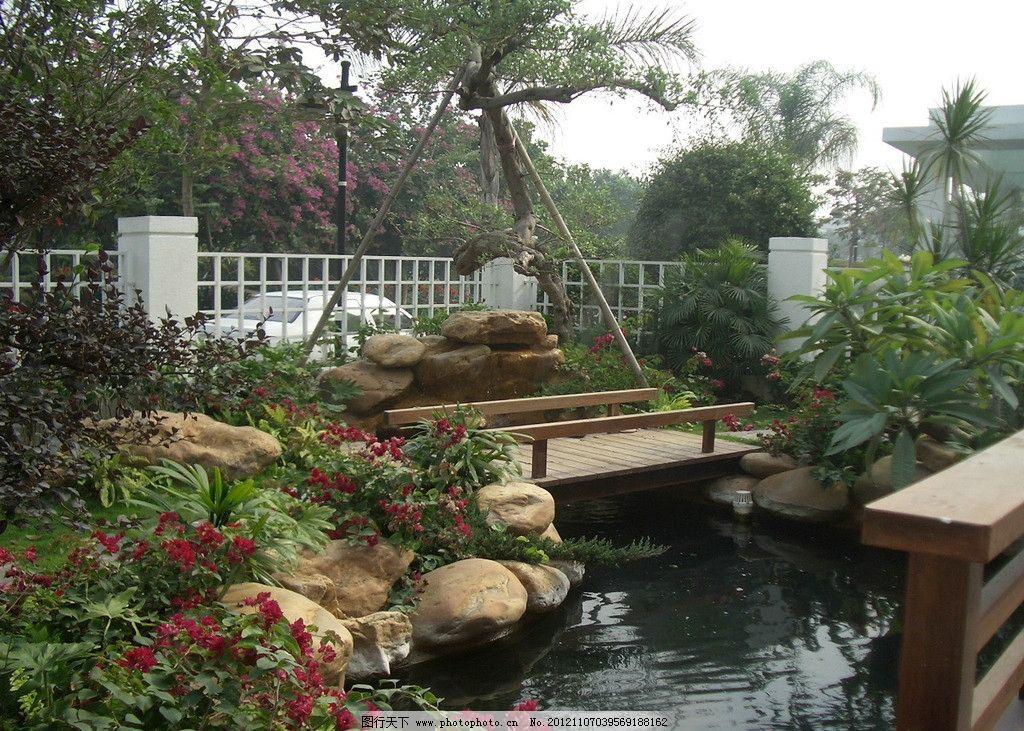 鱼池v鱼池别墅别墅矮柱灯别墅庭院-grc庭院圆水池外景观围墙图片