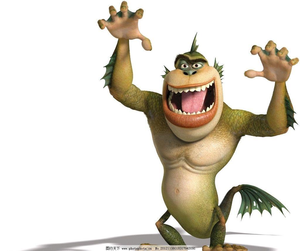 卡通动物 怪物 猴子 猩猩