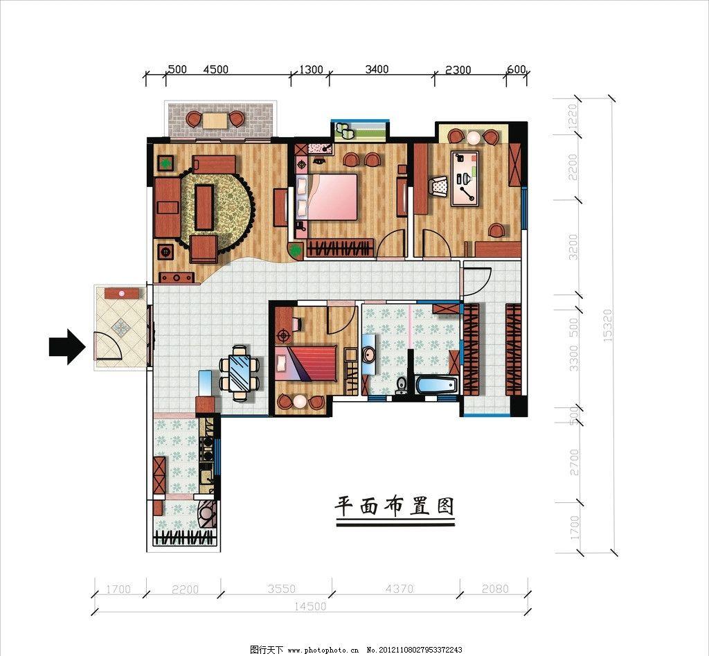 家具平面布置图 平面布置图 室内设计 家居设计 室内空间规划 建筑