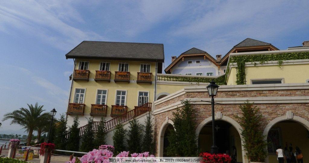 国外小镇风景建筑