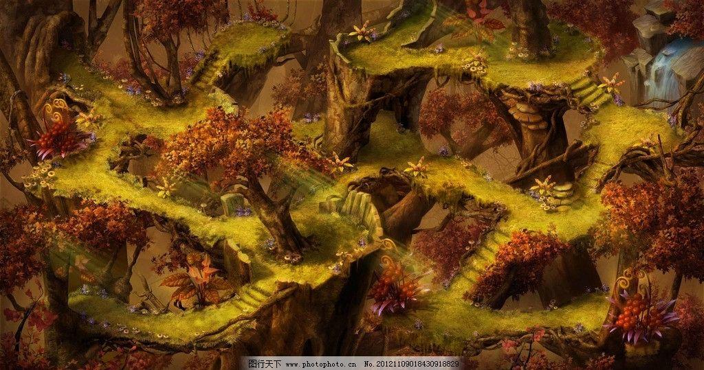 梦幻西游 游戏 唯美 地形图 风景漫画 动漫动画 设计 凤巢 四层 72dpi