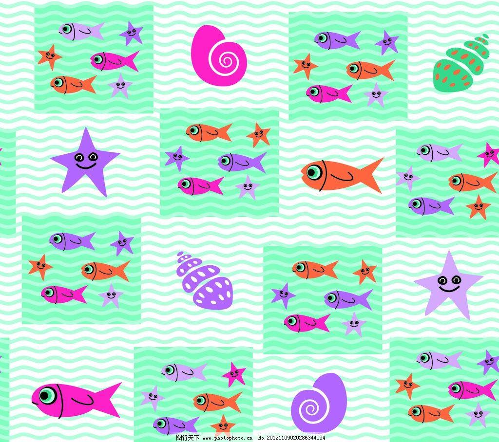 海底动物图片_背景底纹