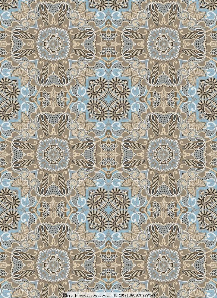 几何花卉 四方连续 几何 花卉 图案 服饰 印花 花边花纹 底纹边框