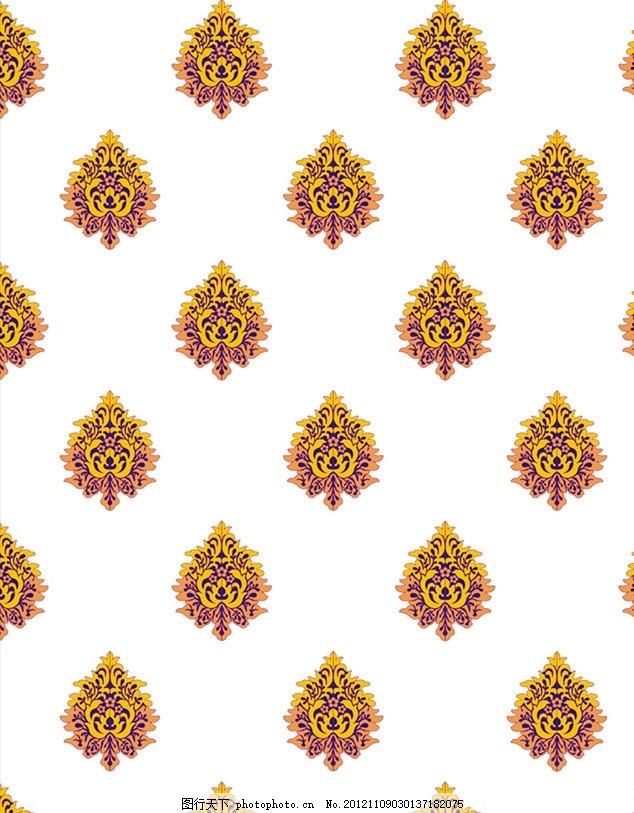 印花 布艺窗帘 时尚 背景底纹 布艺 花卉素材 图案 制版 矢量 cdr