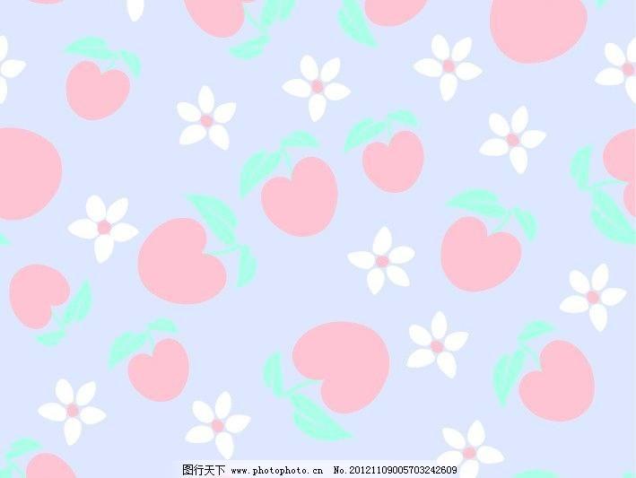 水果可爱背景图