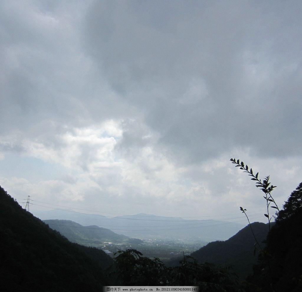 梁皇山 宁波 宁海 树木 绿树 山水风景 山峰 山峦 天空 自然风景 旅游