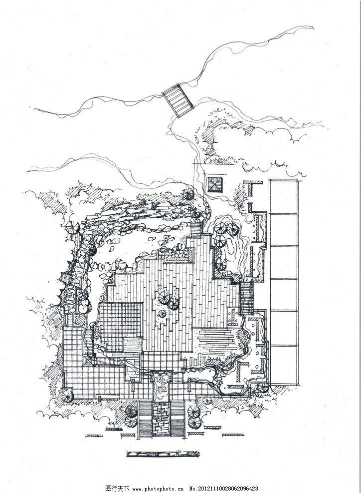 庭院设计图片,手绘 私人庭院 私人花园平面 广场设计