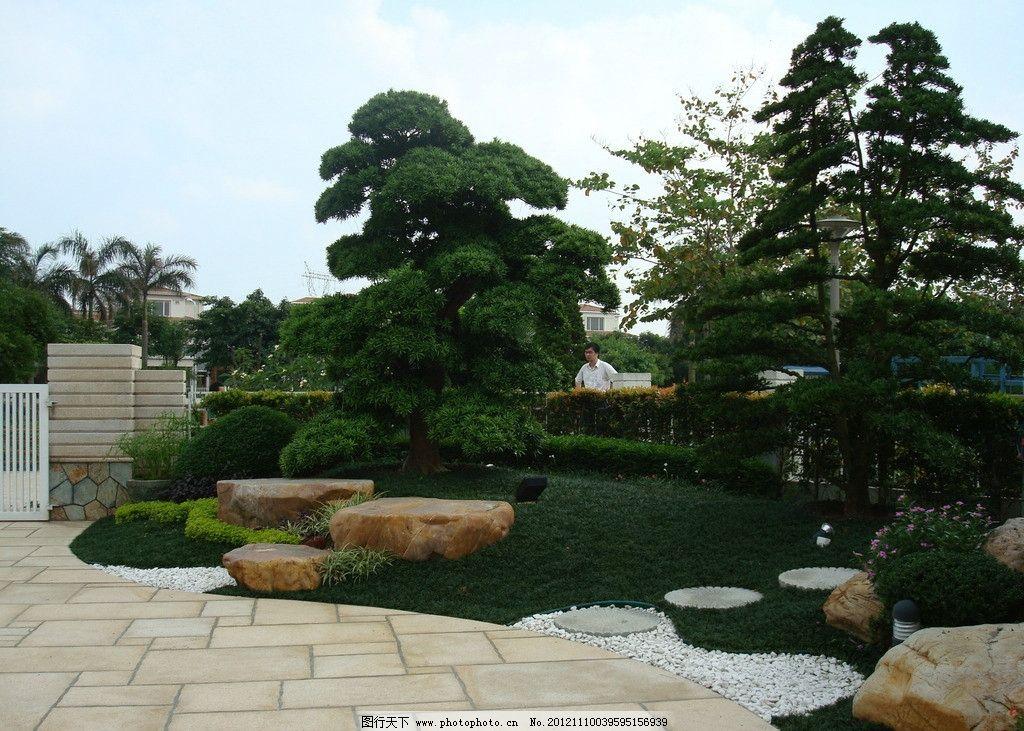 景观设计 庭院摄影 别墅庭院