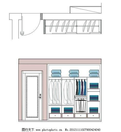 卧室衣柜 室内设计 cdr立面 衣柜 门 建筑家居 矢量 cdr