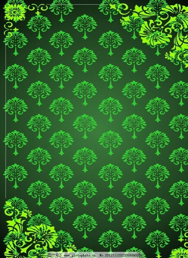 绿色森林 条纹 纹边 窗户花边 底纹背景 花框花边 花纹 花边 纹理