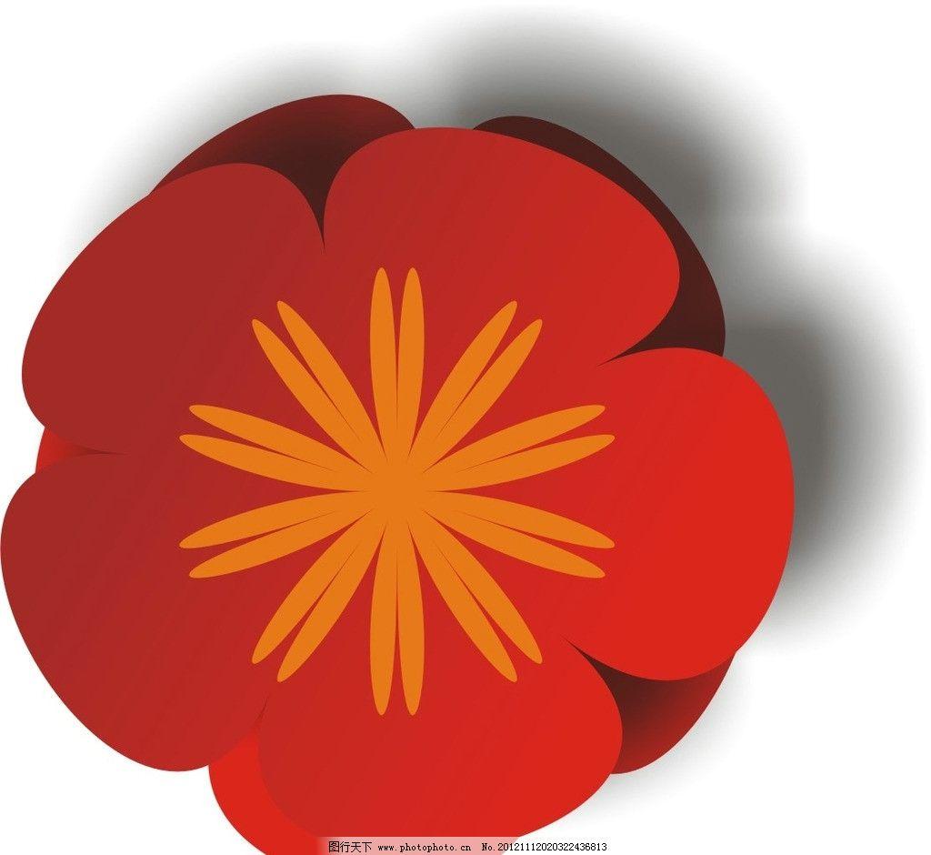 梅花 红色 红梅 花朵 花蕊 花边花纹 底纹边框 设计 300dpi jpg