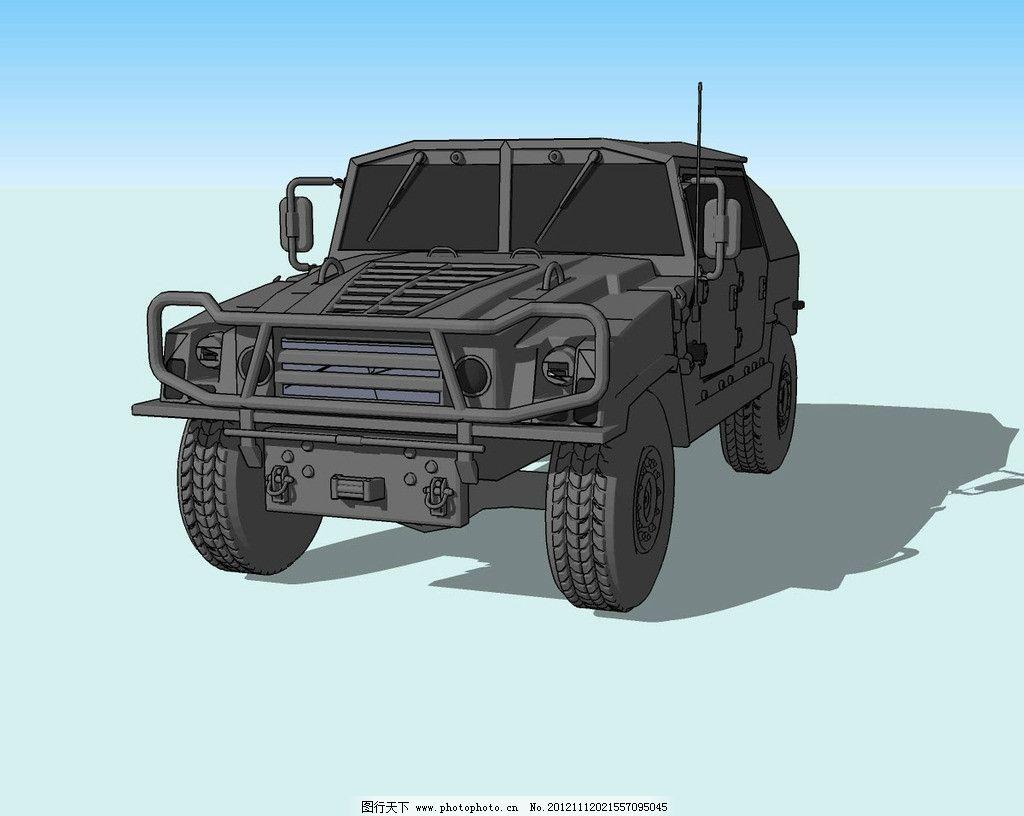 东风猛士精细3d模型图片,吉普 汽车 越野车 轮胎-图行