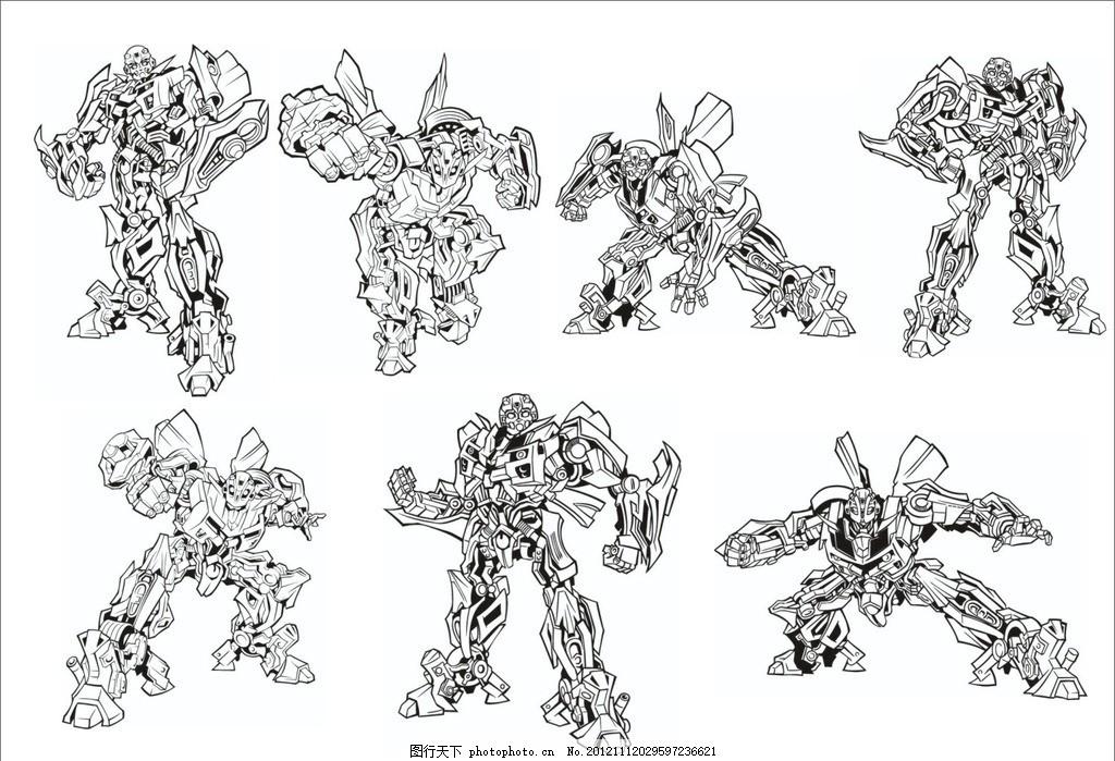 变形金刚 科幻素材 汽车人 动漫人物 广告设计 矢量 ai 大黄蜂