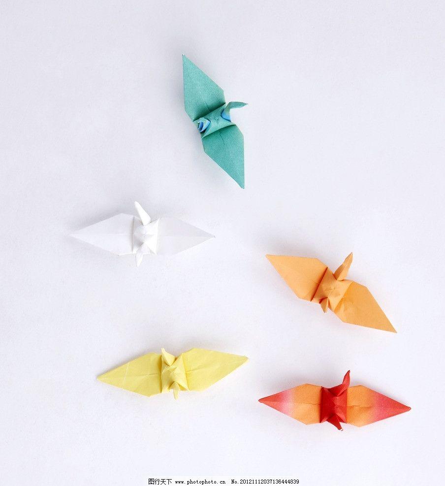 千纸鹤 彩色千纸鹤 折纸鹤 折纸艺术 手工艺 学习办公用品 娱乐休闲