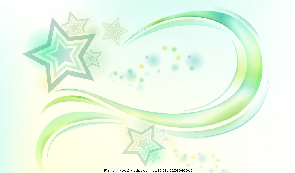 星星背景 背景 清新 五角星 曲线 淡色 光斑 背景底纹 底纹边框 设计