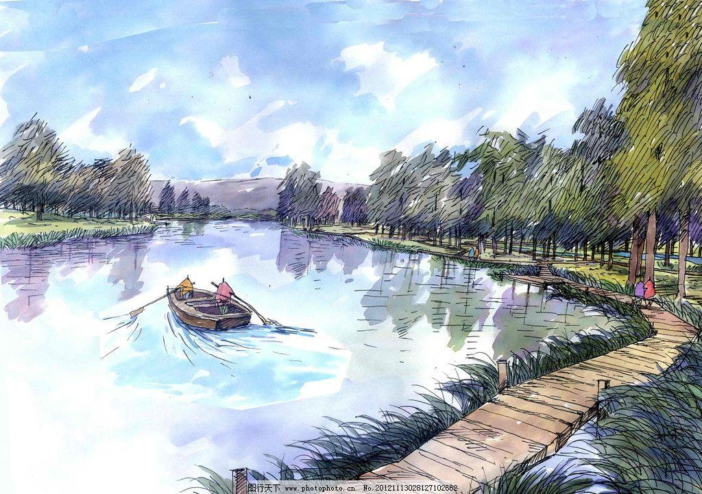 景观园林手绘效果图图片