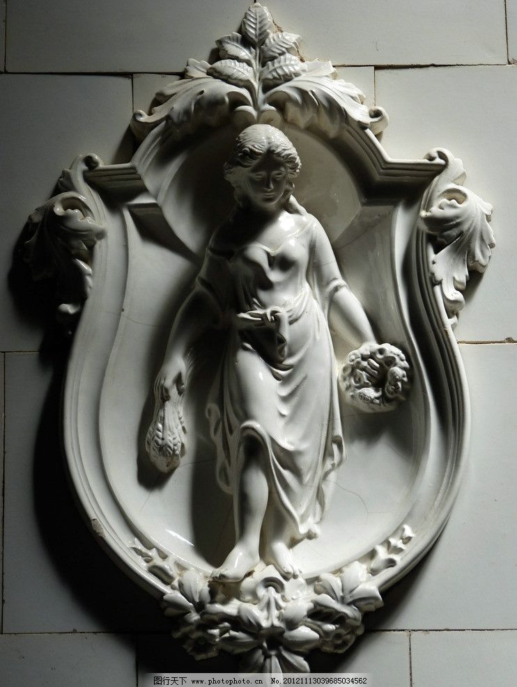 天使瓷器 欧式 天使 雕塑