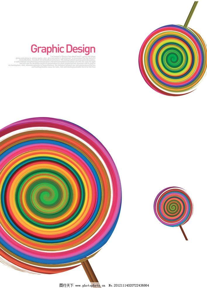 圆形圈圈鸟的手绘图片