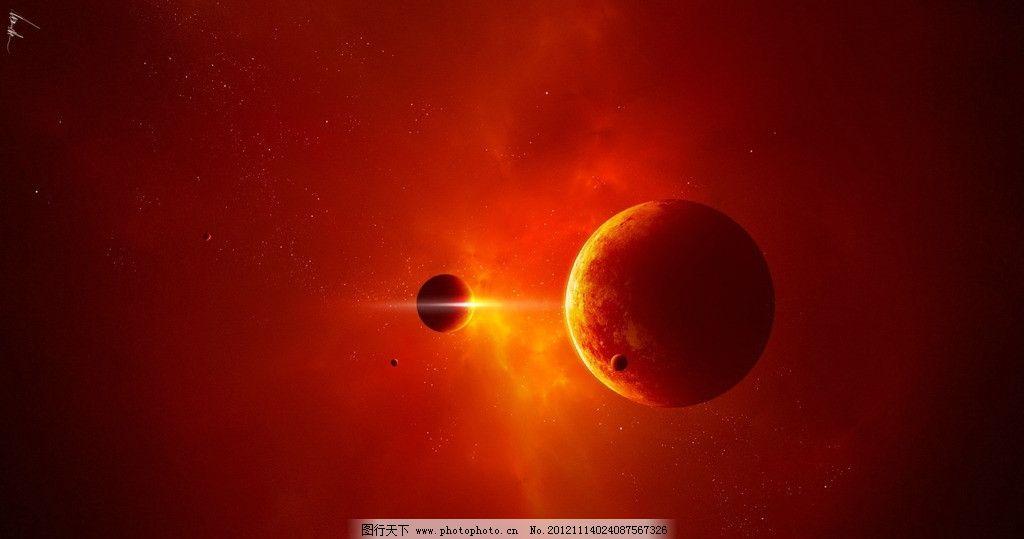 太阳黑子 太阳 爆发 火 红色 地球 月球 星球 宇宙 太空 自然风景