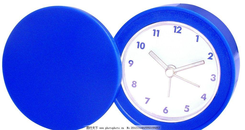 石英钟 闹钟 蓝色 圆形