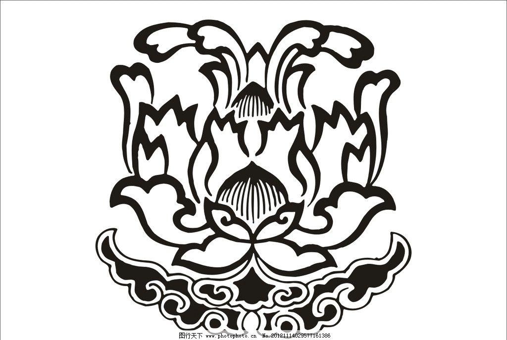 牵牛花图案 传统图案 装饰图案 图案设计 装饰花边 花边底纹 底纹设计 底纹图案 矢量图案 广告设计 矢量 CDR