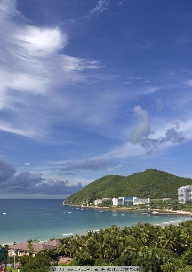 大海 国内旅游 海南风景 海滩 海湾 蓝天 辽阔 三亚山水 海南风景