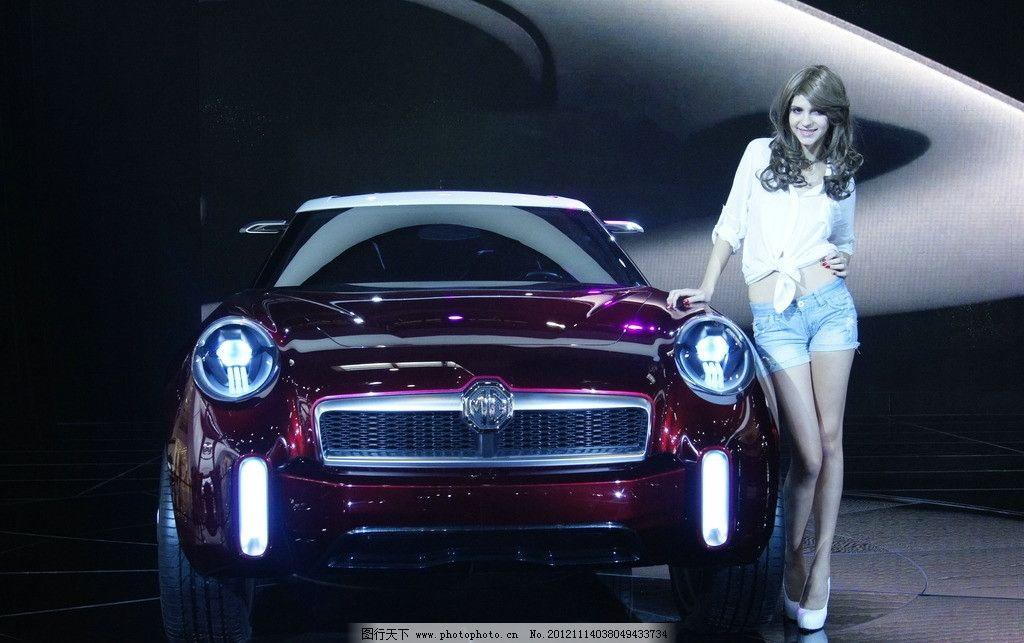 MG 香车美女 交通工具 现代科技 摄影