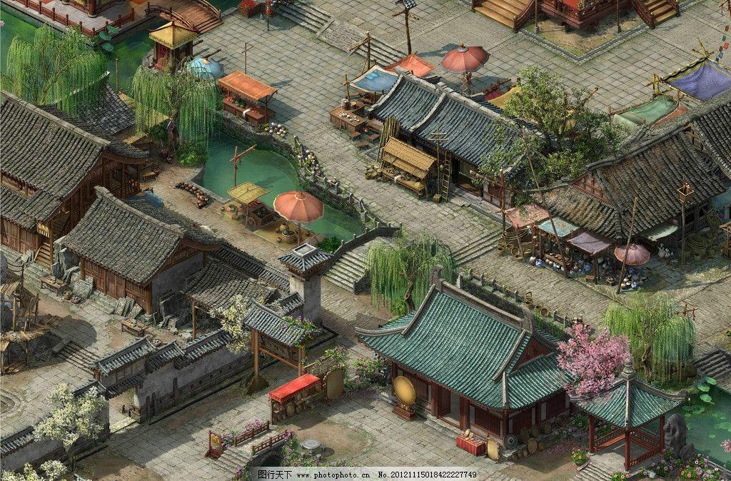 大话三游戏场景 大话西游 大话3 游戏 地形图 风景漫画 动漫动画 设计