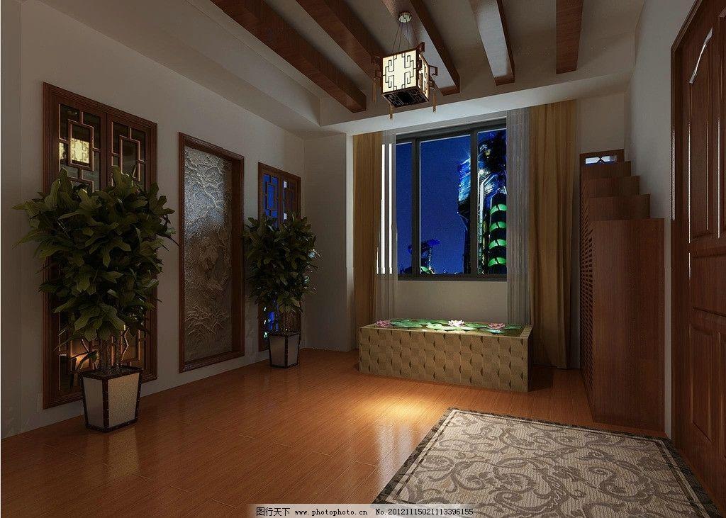 走廊 窗户 中式 木地板