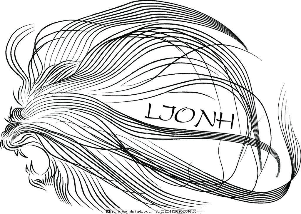 狮子头 手绘 水墨 型 广告设计 矢量
