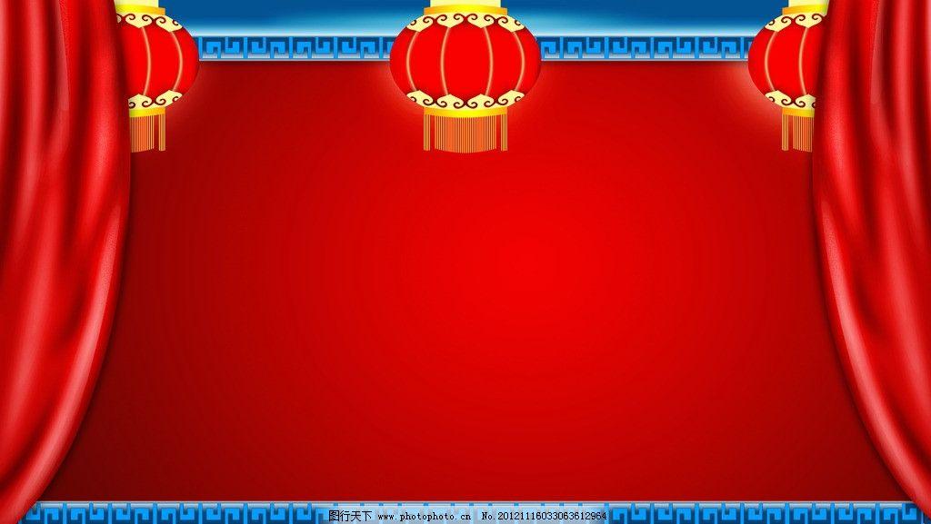 喜庆中秋背景 灯笼 城墙 飘带 花纹 边框 psd分层素材 源文件 300dpi