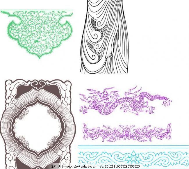 素材 模板 设计 矢量 新款 边框 花纹 花纹素材 线条 异形 花边 边条