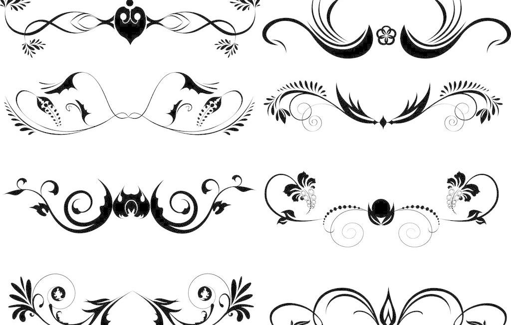 对称 复古 欧式花纹矢量素材 欧式花纹模板下载 欧式花纹 简约 欧式
