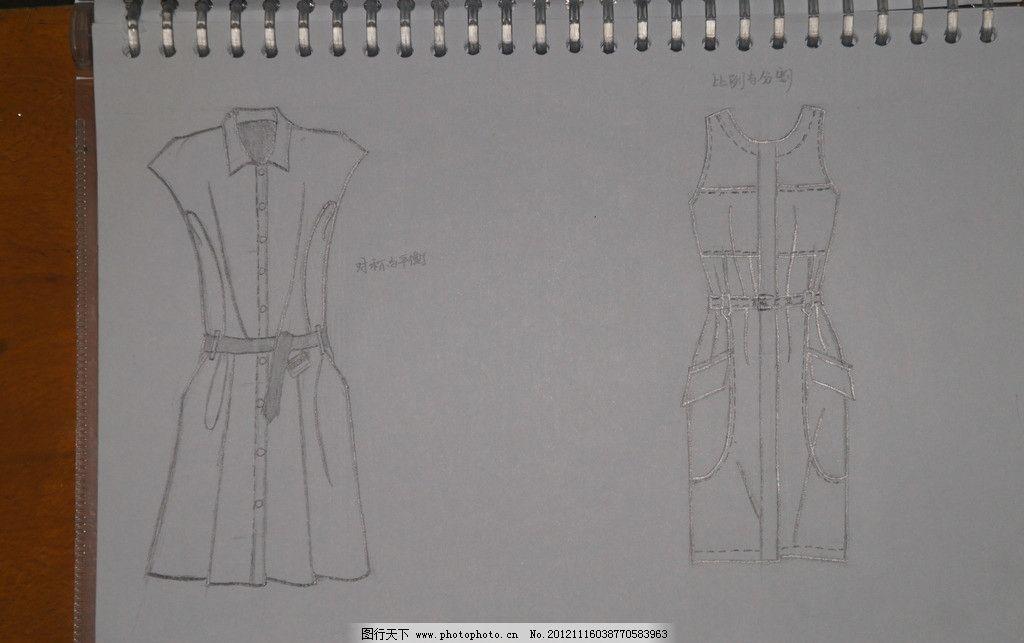 美术手绘线条服装设计图展示